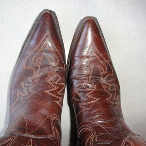 aae7bf724bd Mens Vintage Western Boots Texas Snip Toe 9 1/2